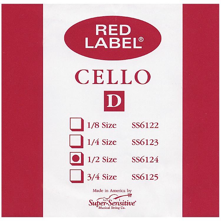 Super SensitiveRed Label Cello D String