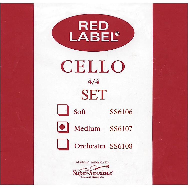 Super SensitiveRed Label Cello String Set4/4