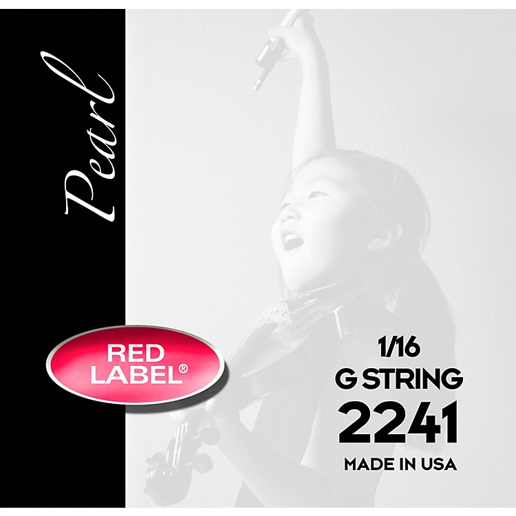 Super Sensitive Red Label Pearl Nylon Core Violin G String 1/16 Size