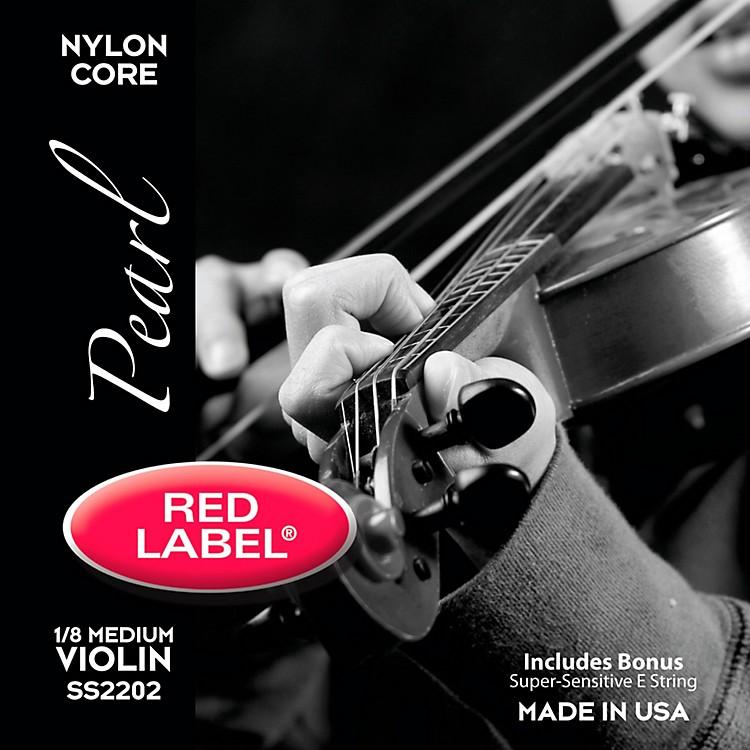 Super SensitiveRed Label Pearl Nylon Core Violin String Set1/8 Size