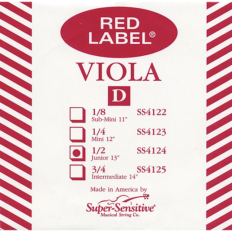 Super Sensitive Red Label Viola D String Mini (12-in.)