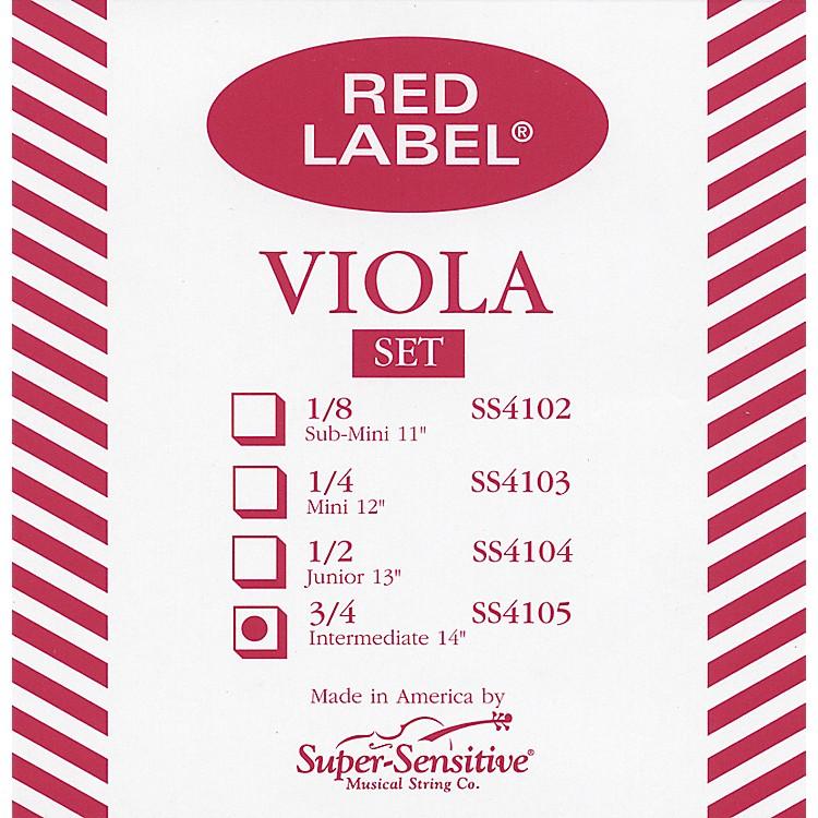 Super SensitiveRed Label Viola String SetIntermediate