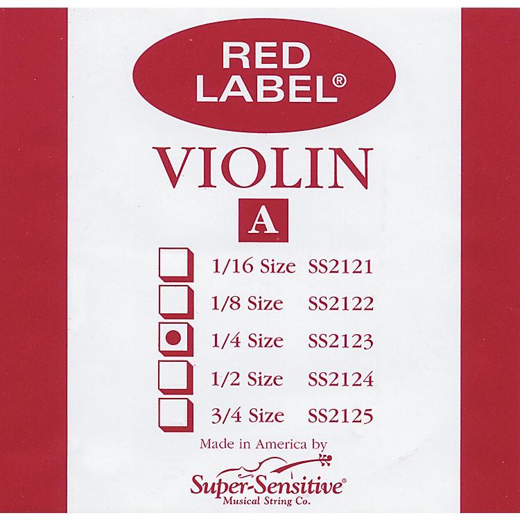 Super SensitiveRed Label Violin A String1/4