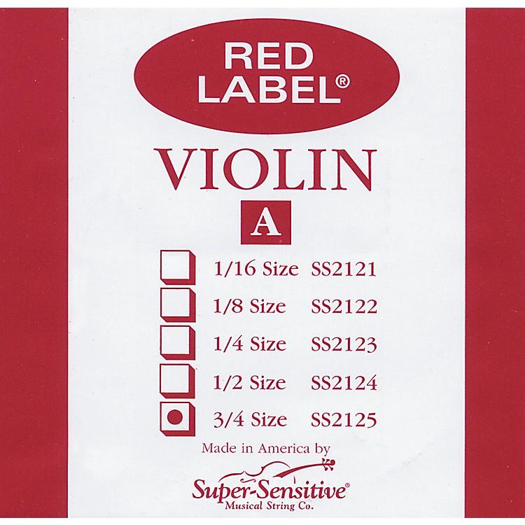Super SensitiveRed Label Violin A String3/4