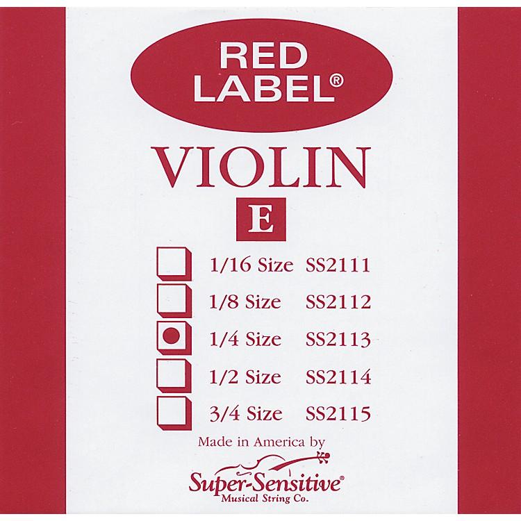 Super SensitiveRed Label Violin E String1/4