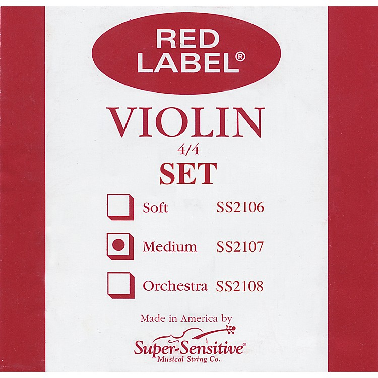 Super Sensitive Red Label Violin String Set  4/4