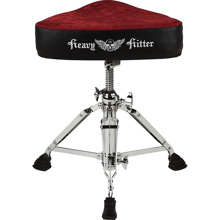 ddrumRed Velvet Motorcycle Drum Throne