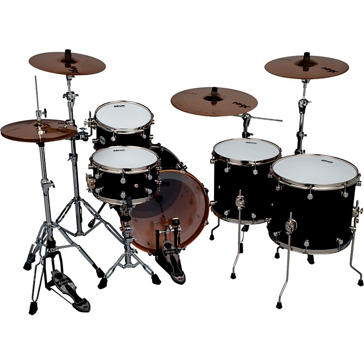 Ddrum Reflex Pocket 5-Piece Shell Pack Satin Black Lacquer Nickel Hardware