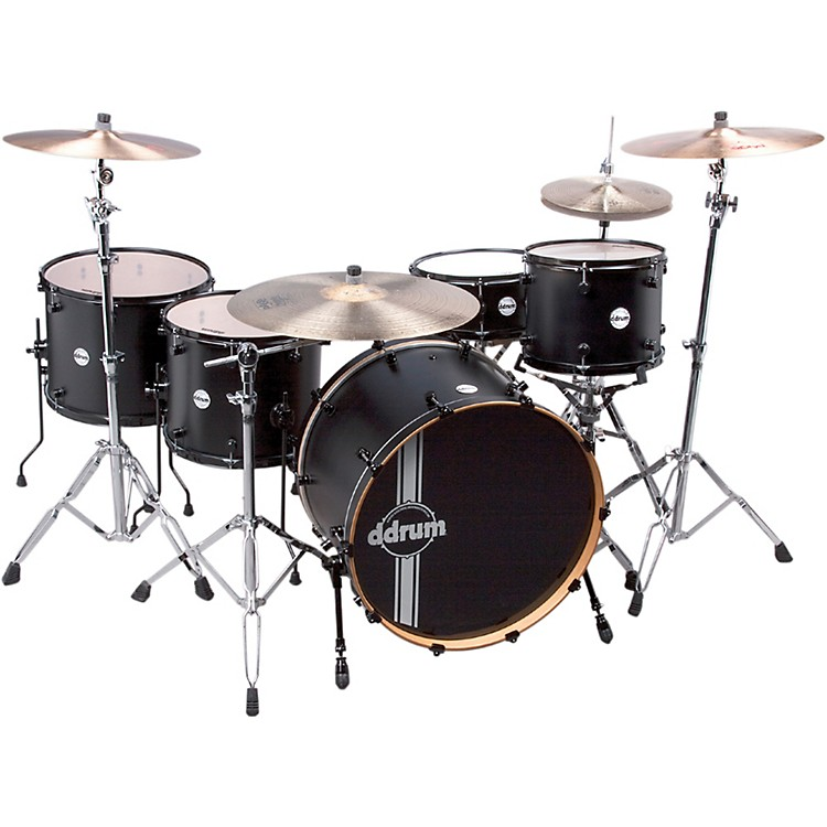 Ddrum Reflex Powerhouse 5-Piece Shell Pack Satin Black