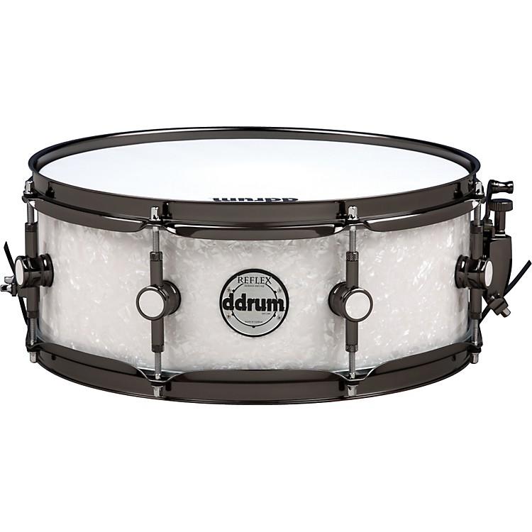ddrumReflex Series Snare Drum5.5 x 14White Marine Pearl with Black Nickel Hardware