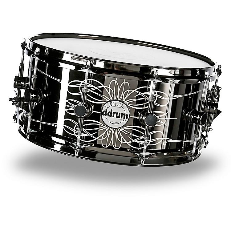 ddrumReflex Tattooed Lady Engraved Black Steel Snare Drum6.5x14