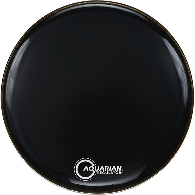 Aquarian Regulator Black Drumhead Black 22 Inches