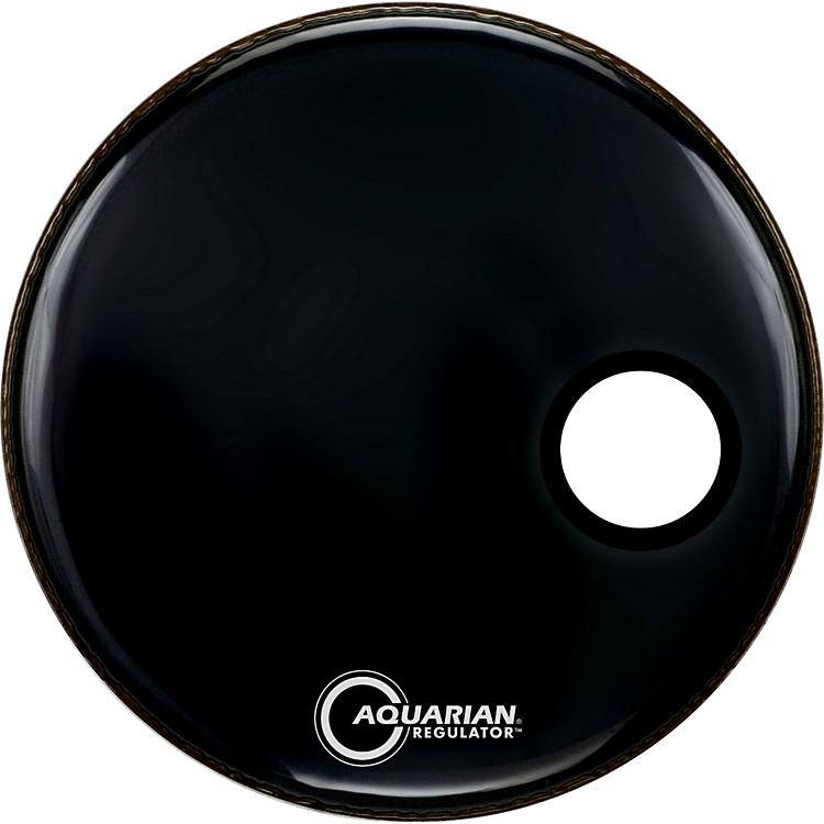 AquarianRegulator Black Resonant Kick DrumheadBlack24 in.