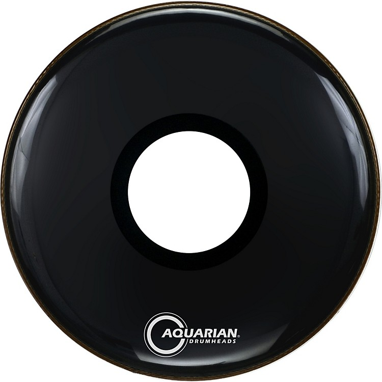 Aquarian Regulator Large Black Hole Drumhead Black 22 in.