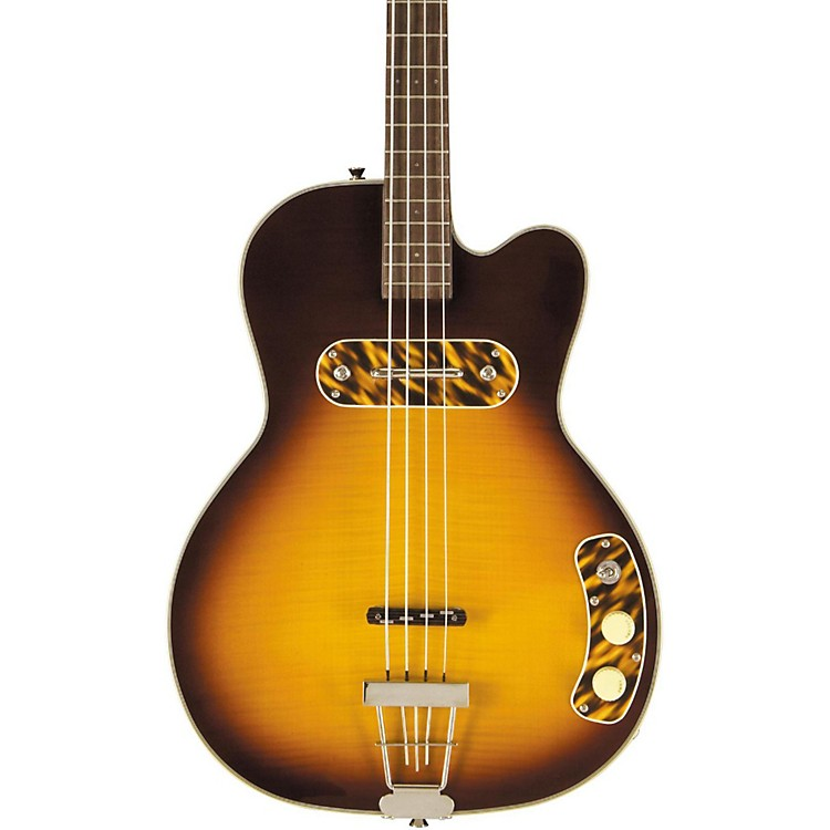 Kay Vintage Reissue Guitars Reissue Pro Bass Guitar Honey Sunburst