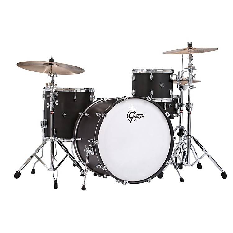 Gretsch Drums Renown Series 3-Piece Shell Pack with 24 inch Bass Drum Satin Black