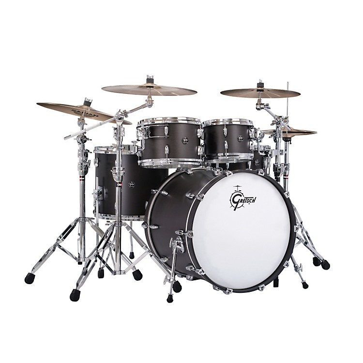 Gretsch Drums Renown Series 4-Piece Shell Pack with 22 inch Bass Drum Satin Black