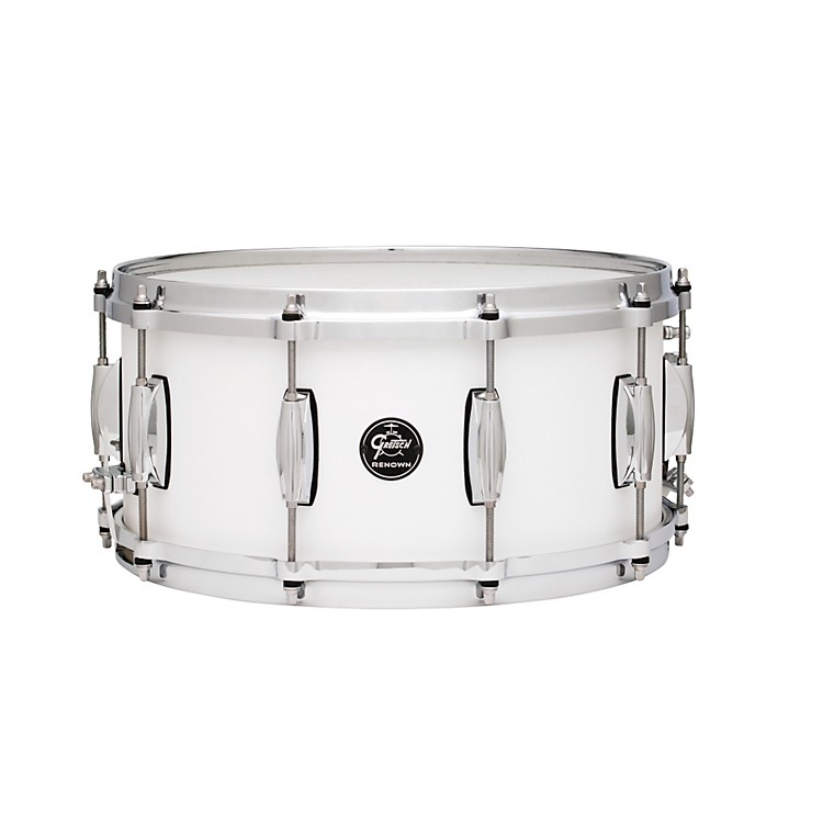 Gretsch Drums Renown Series Snare Drum Satin White 6.5X14