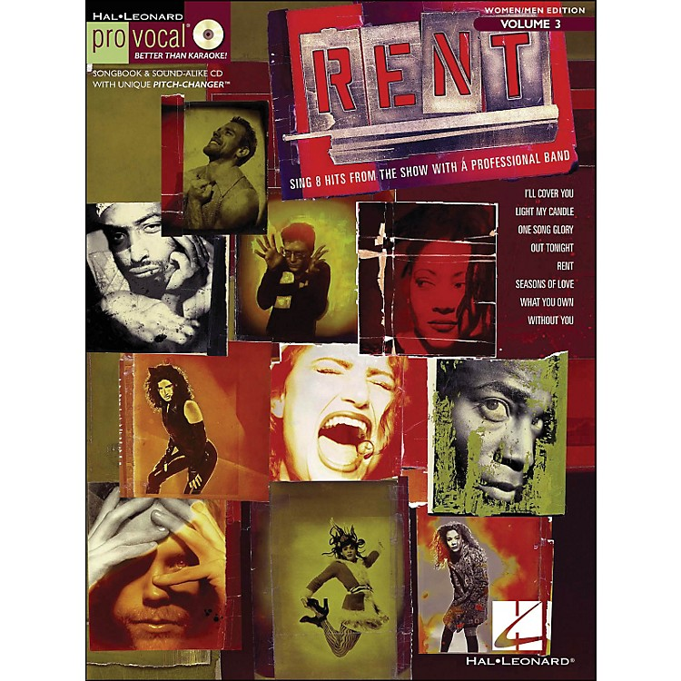 Hal Leonard Rent - Pro Vocal Series Songbook & CD for Women/Men Volume 3