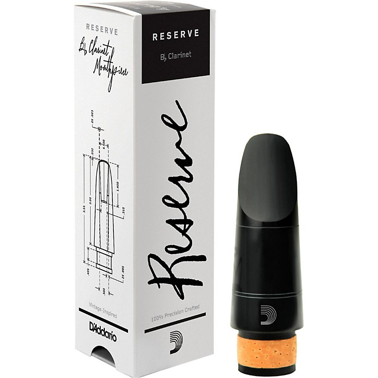 D'Addario Woodwinds Reserve Bb Clarinet Mouthpiece X10, 1.10 mm