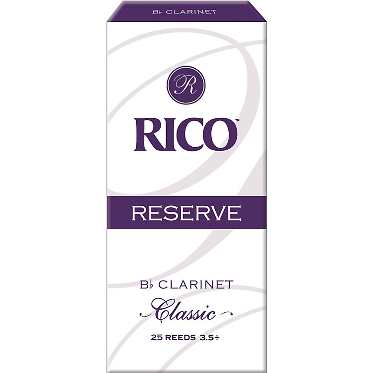 Rico Reserve Classic Bb Clarinet Reeds Box of 25