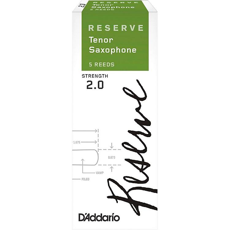 D'Addario WoodwindsReserve Tenor Saxophone Reeds 5-PackStrength 2