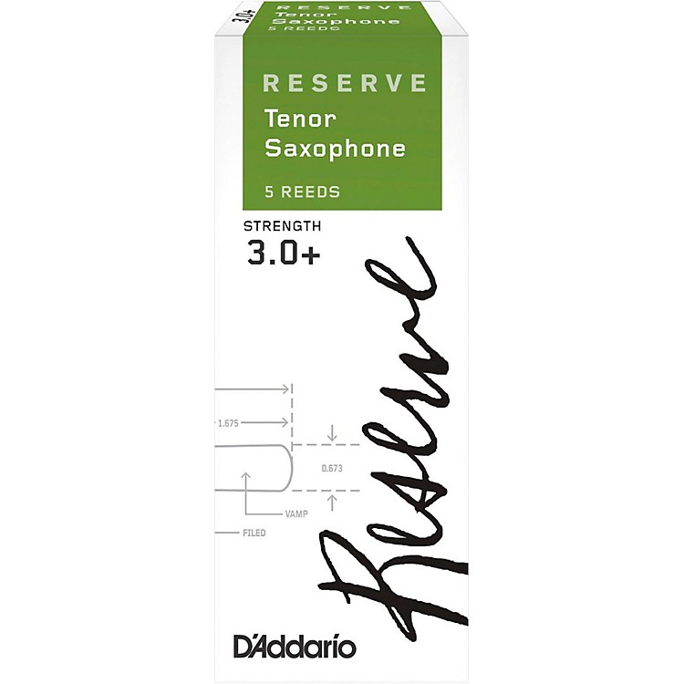 D'Addario WoodwindsReserve Tenor Saxophone Reeds 5-PackStrength 3.0+