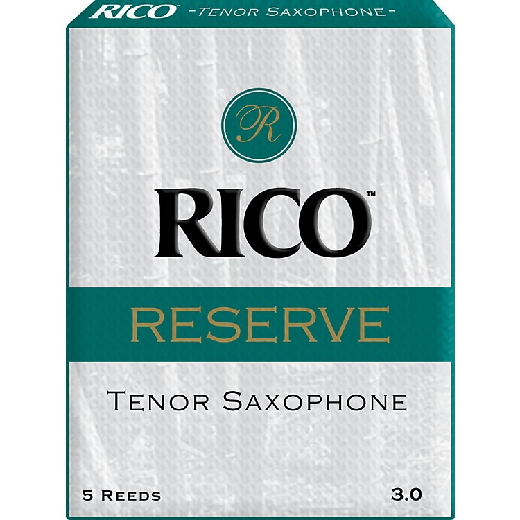 RicoReserve Tenor Saxophone ReedsStrength 3 Box of 5