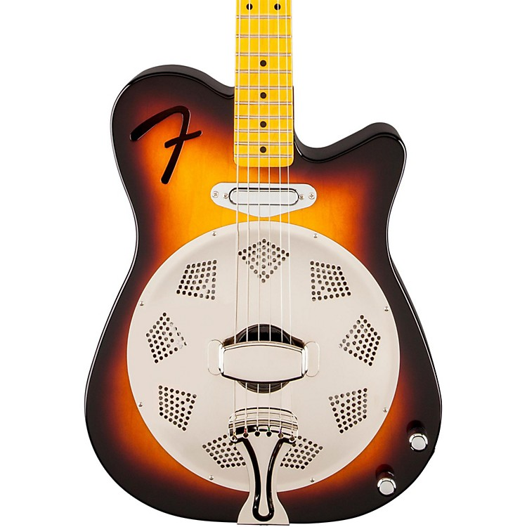 Fender Reso-Tele Acoustic-Electric Resonator Guitar 3-Color Sunburst