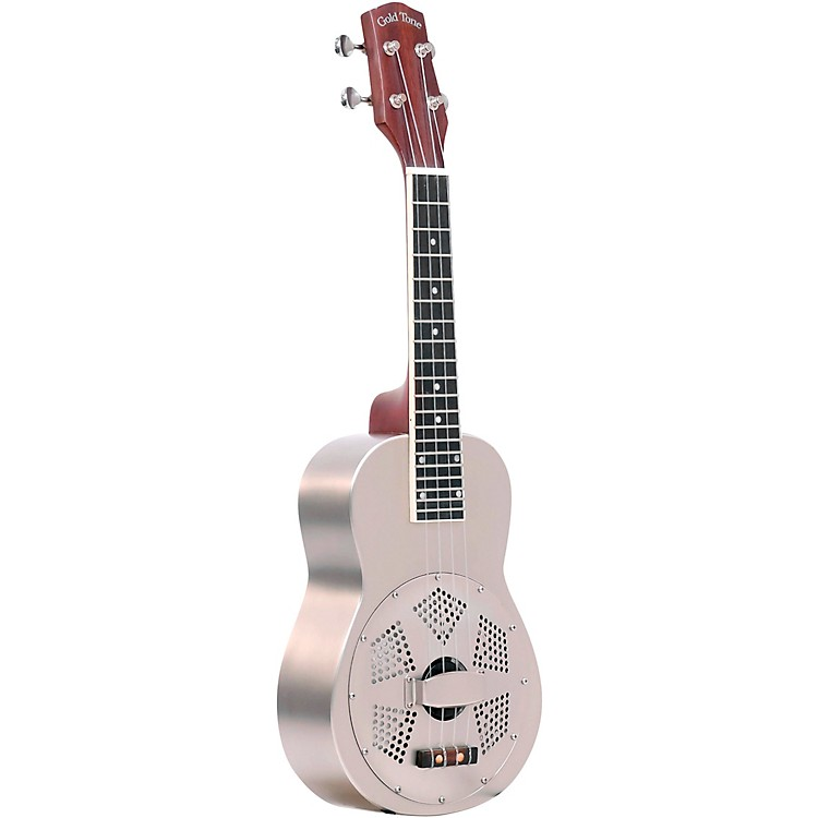 Gold Tone ResoUke Resonator Ukulele Brushed Metal
