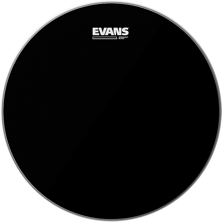 Evans Resonant Black Tom Drumhead  18 in.