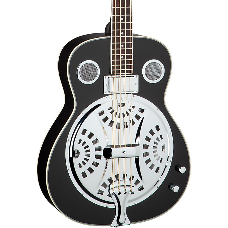 Dean Resonator Acoustic-Electric Bass Classic Black