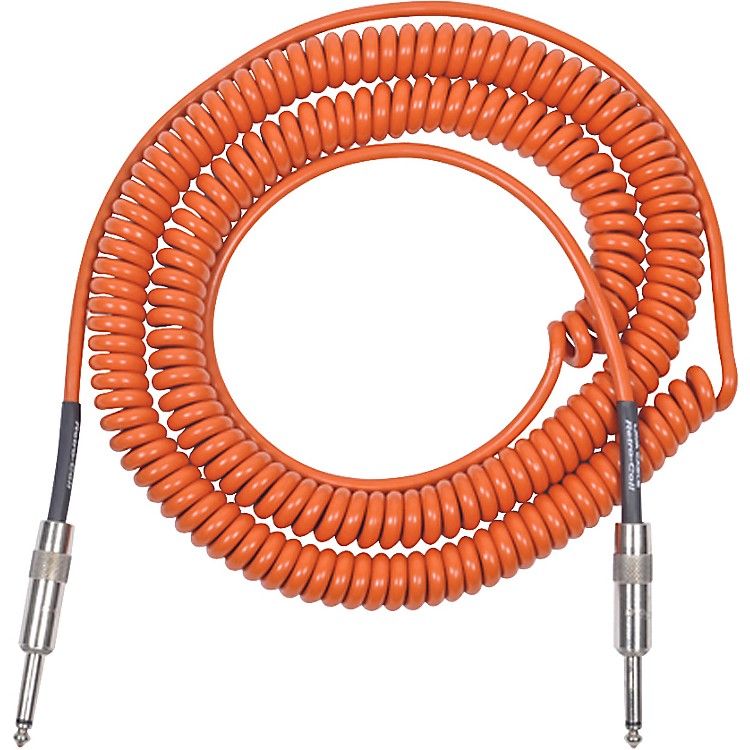 LavaRetro Coil 20 Foot Instrument Cable Straight-Straight Assorted ColorsOrange