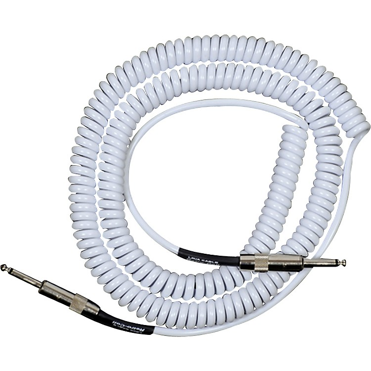 Lava Retro Coil 20 Foot Instrument Cable Straight to Straight Assorted Colors White