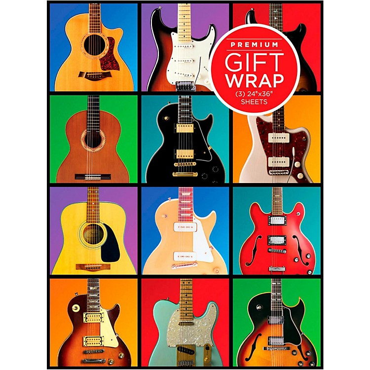 Hal LeonardRetro Guitar Wrapping Paper