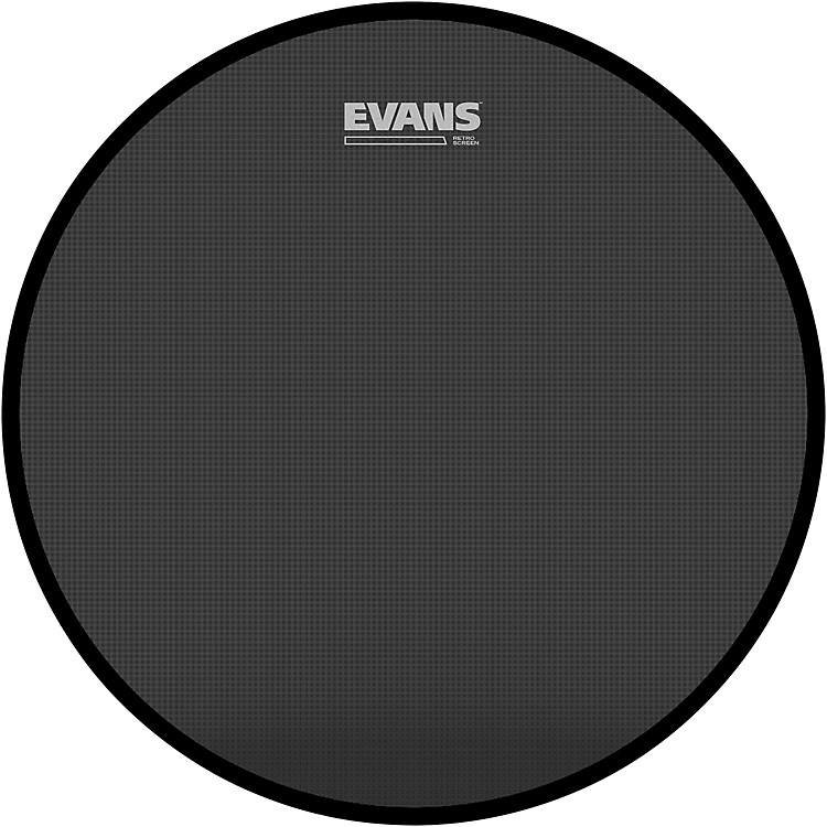 Evans Retro Screen Front Bass Head Black  22 Inches