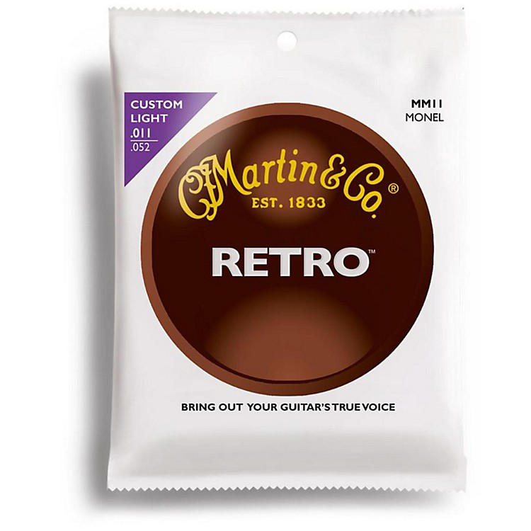 Martin Retro Series Custom Light Acoustic Guitar Strings