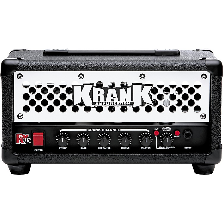 Krank Rev Jr Standard 20W Tube Guitar Amp Head Black Chrome Grill