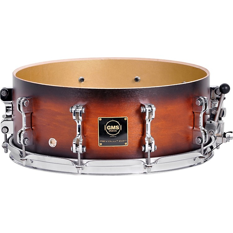 GMS Revolution Maple/Brass Snare Drum 7 x 13 Ebony