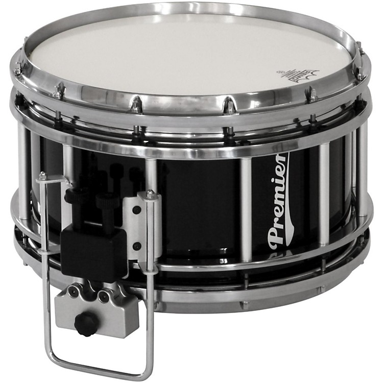 Premier Revolution Series Indoor Marching Snare Drum 14 x 7 in. Ebony Black Lacquer