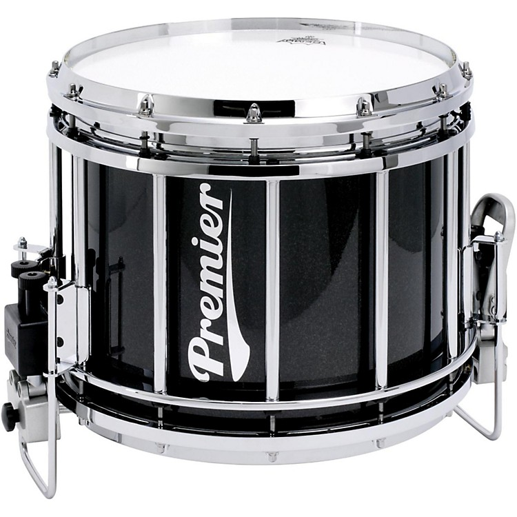 Premier Revolution Series Marching Snare Drum 14x12 Inch Ebony Black Lacquer
