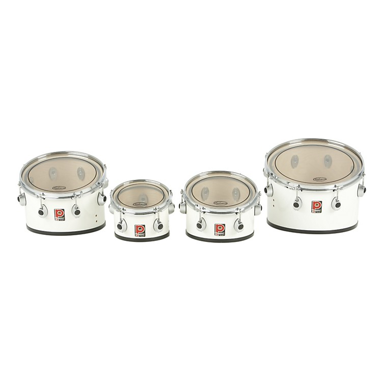 Premier Revolution Series Multi Toms Quad Tenor Set 8 10 12 14 Ivory White Lacquer 8,10,12,14