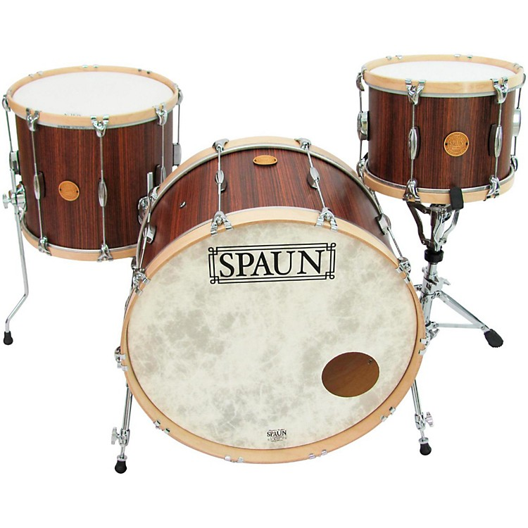 Spaun Revolutionary 3-Piece Shell Pack with Wood Hoops Carmel/Zebrawood