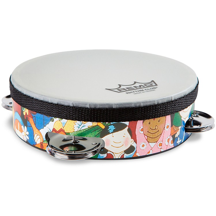 Remo Rhythm Club Tambourine with 4 Sets of Jingles  6 in.