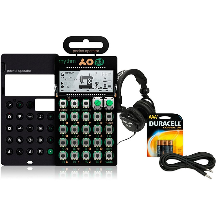 Teenage Engineering Rhythm Pocket Operator with Case, Batteries, Headphones and Cable