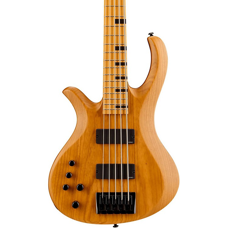 Schecter Guitar Research Riot-5 Session 5 String Left Handed Electric Bass Guitar Aged Natural Satin