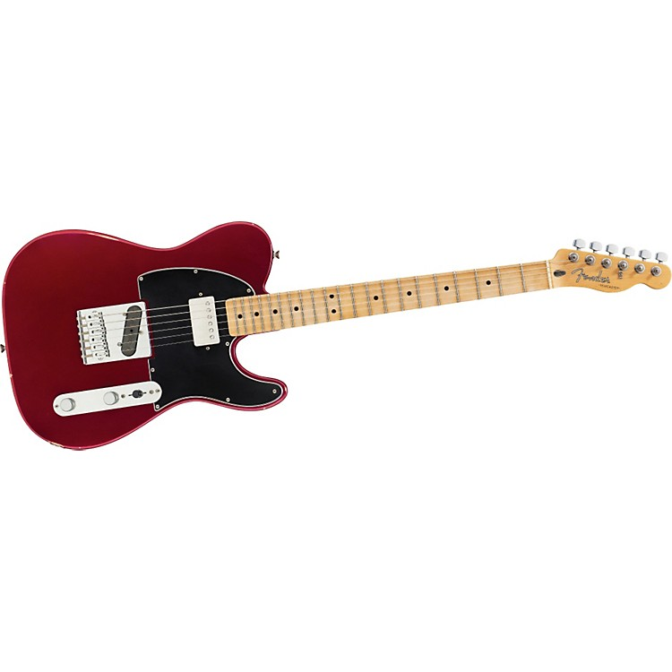 Fender Road Worn Player Telecaster Electric Guitar Candy Apple Red Maple Neck