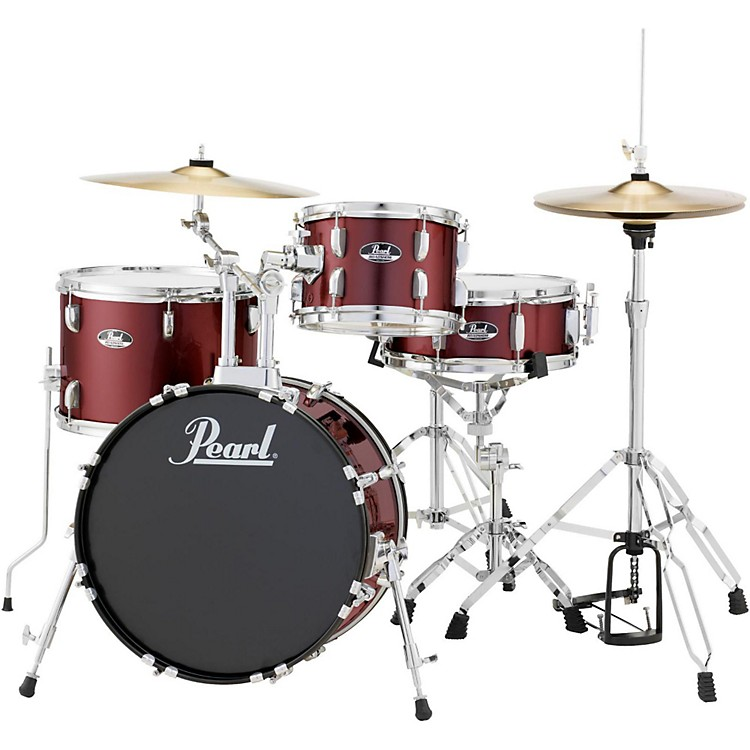 PearlRoadshow 4-Piece Jazz Drum SetWine Red