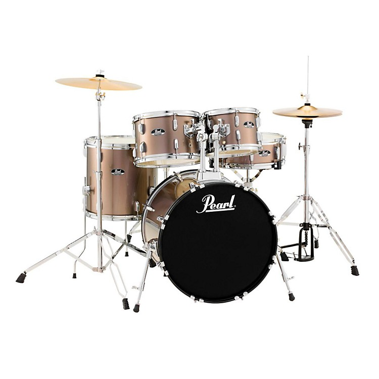 Pearl Roadshow 5-Piece Fusion Drum Set Bronze Metallic