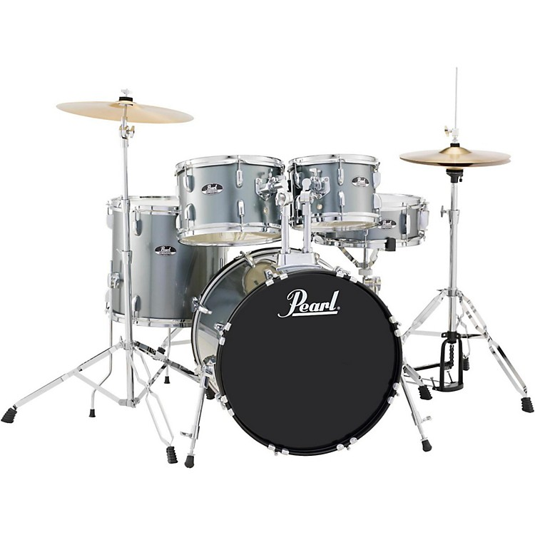 Pearl Roadshow 5-Piece Fusion Drum Set Charcoal Metallic